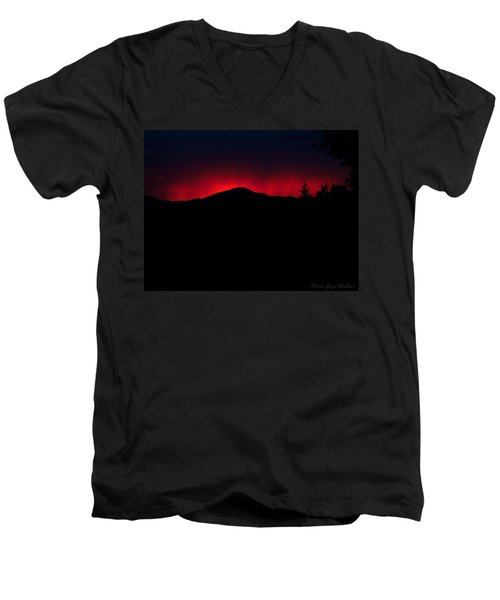 Oakrun Sunset 06 09 15 Men's V-Neck T-Shirt by Joyce Dickens