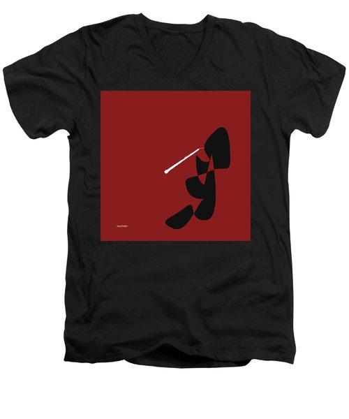 Obeo In Orange Red Men's V-Neck T-Shirt by David Bridburg