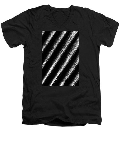 Oblique Line Men's V-Neck T-Shirt by Edgar Laureano