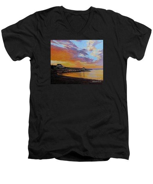 Observatory Point, Rockport, Ma Men's V-Neck T-Shirt