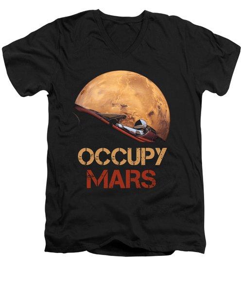Occupy Mars Men's V-Neck T-Shirt