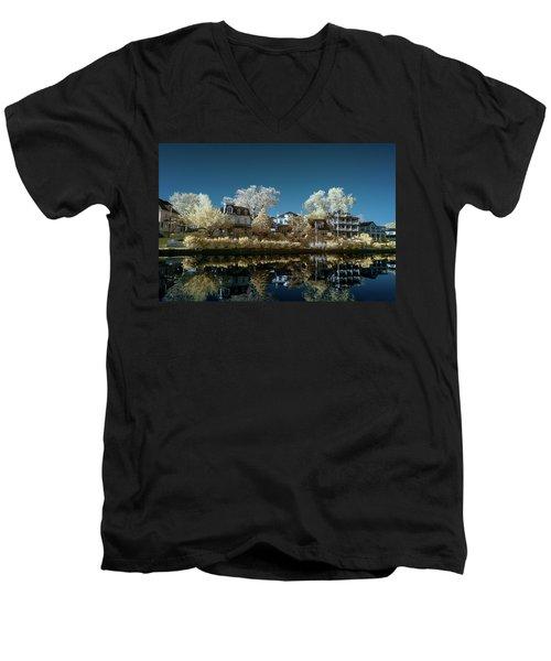Ocean Grove Nj Men's V-Neck T-Shirt by Paul Seymour