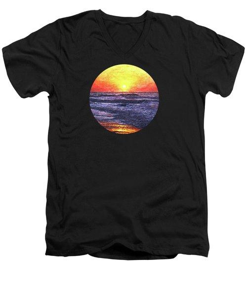 Ocean Sunrise Men's V-Neck T-Shirt