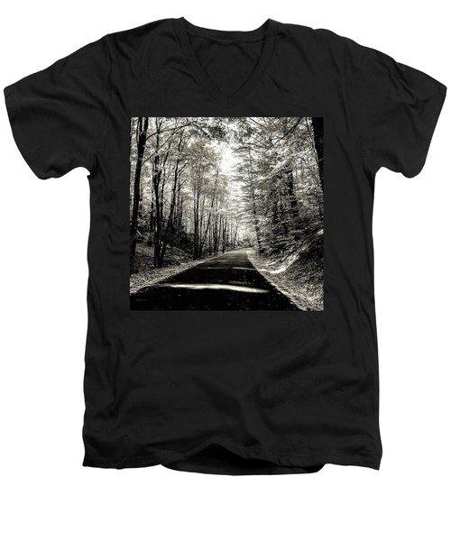 October Grayscale  Men's V-Neck T-Shirt