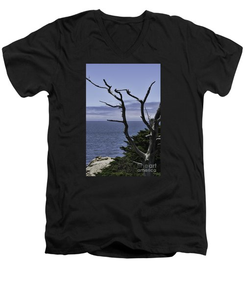 Off Shore Men's V-Neck T-Shirt by Judy Wolinsky