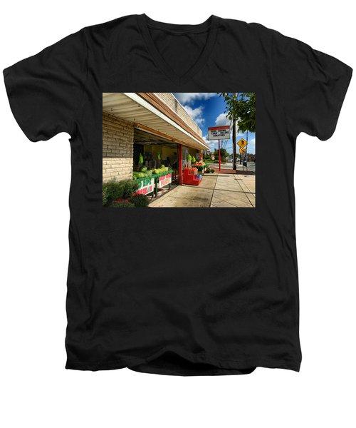 Off To The Market Men's V-Neck T-Shirt