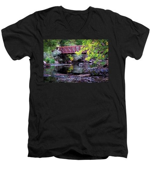 Ogden River Bridge Men's V-Neck T-Shirt
