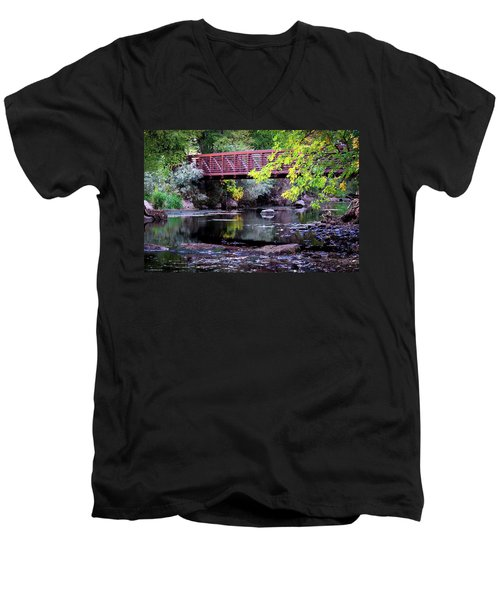 Ogden River Bridge Men's V-Neck T-Shirt