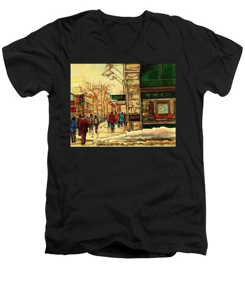 Ogilvys Department Store Downtown Montreal Men's V-Neck T-Shirt