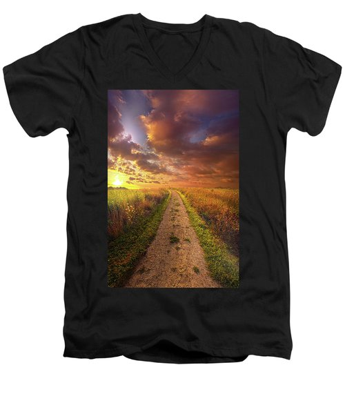 Men's V-Neck T-Shirt featuring the photograph Oh Brother Where Art Thou by Phil Koch