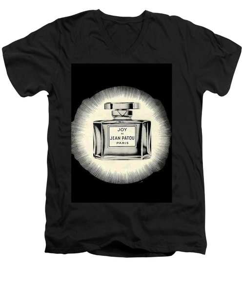 Men's V-Neck T-Shirt featuring the digital art Oh Joy by ReInVintaged