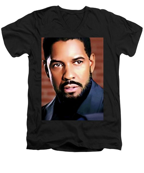 Oh, Lawd Denzel Men's V-Neck T-Shirt