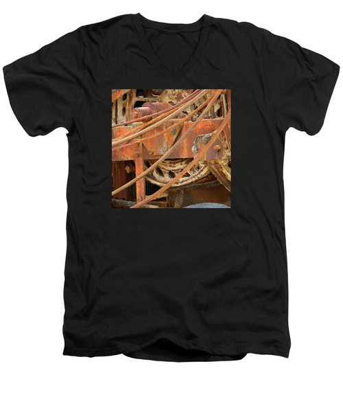 Oil Production Rig Men's V-Neck T-Shirt