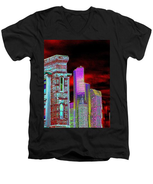 Old And New Seattle Men's V-Neck T-Shirt
