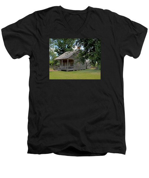 Old Cajun Home Men's V-Neck T-Shirt by Judy Vincent