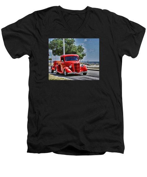 Old Car 2 Men's V-Neck T-Shirt by Cathy Jourdan