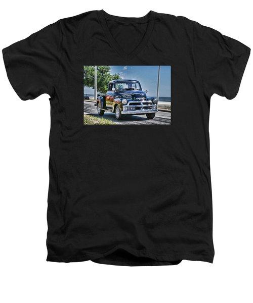 Old Car 3 Men's V-Neck T-Shirt by Cathy Jourdan