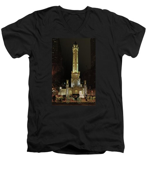 Old Chicago Water Tower Men's V-Neck T-Shirt