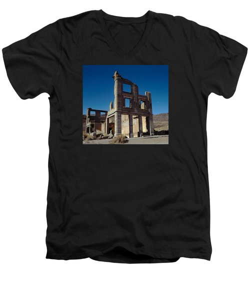 Old Cook Bank Building Men's V-Neck T-Shirt