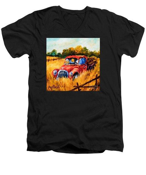 Old Friend Men's V-Neck T-Shirt by Igor Postash