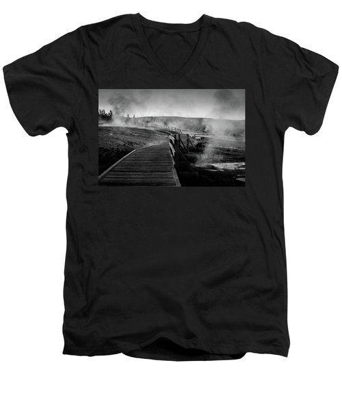 Old Faithful Boardwalk Men's V-Neck T-Shirt