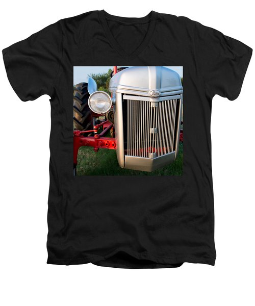 Ford Tractor 9n Tractor Front Men's V-Neck T-Shirt