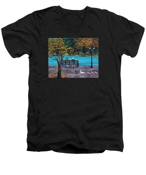 Old Friends Men's V-Neck T-Shirt by Mike Caitham