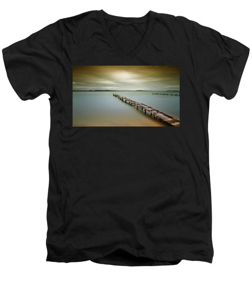 Old Jetty 0010 Men's V-Neck T-Shirt by Kevin Chippindall