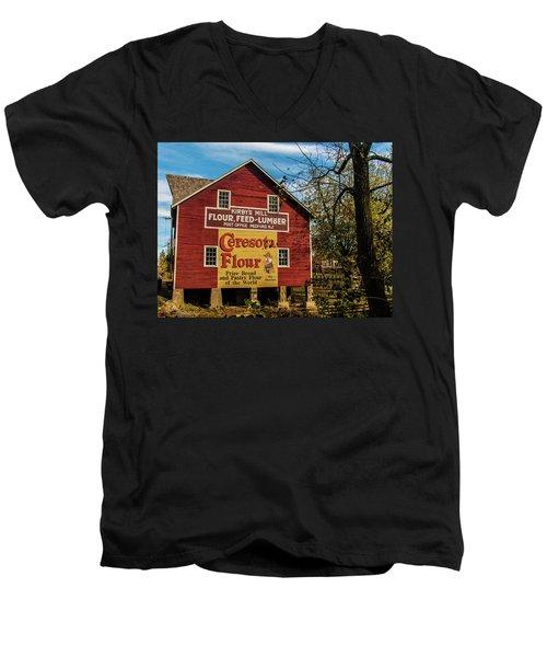 Old Kirby's Flower Mill Men's V-Neck T-Shirt