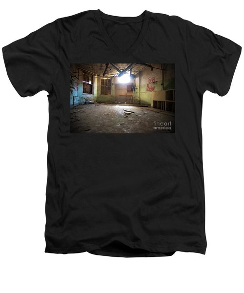 Men's V-Neck T-Shirt featuring the photograph Old Paint Shop by Randall Cogle