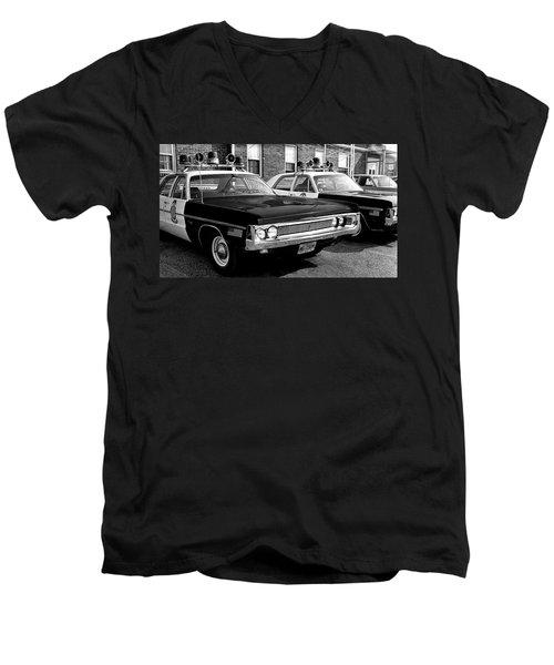Old Police Car Men's V-Neck T-Shirt by Paul Seymour
