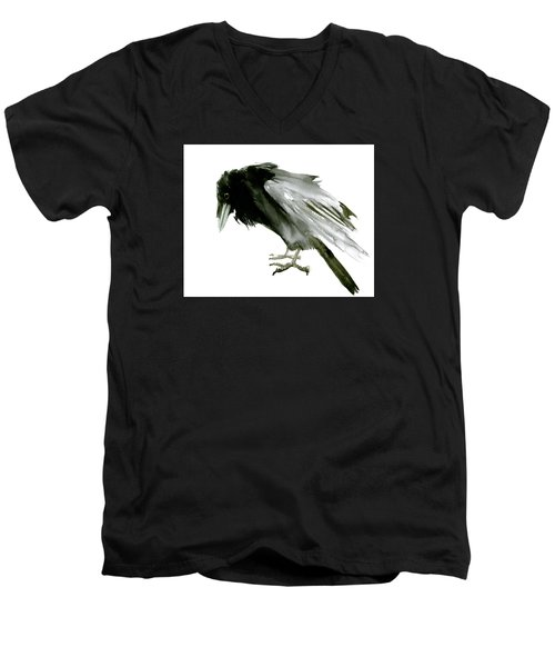 Old Raven Men's V-Neck T-Shirt by Suren Nersisyan