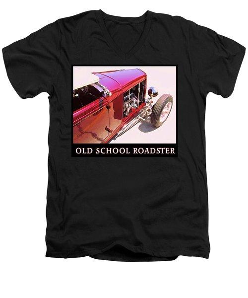 Old School Roadster Title Men's V-Neck T-Shirt