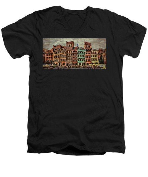 Old Town In Warsaw #15 Men's V-Neck T-Shirt