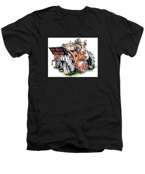 Old Tractor Men's V-Neck T-Shirt