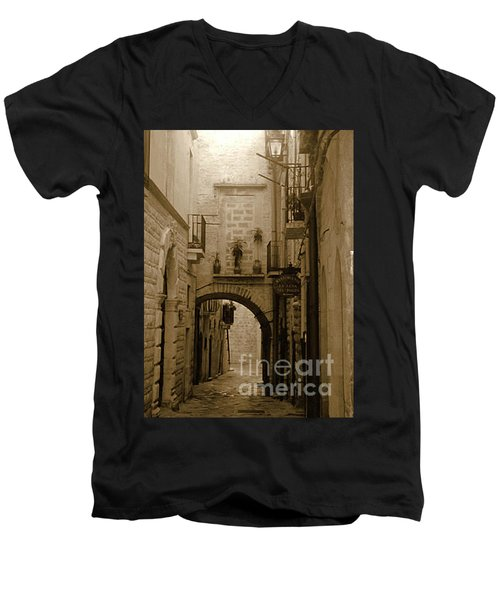 Old Village Street Men's V-Neck T-Shirt