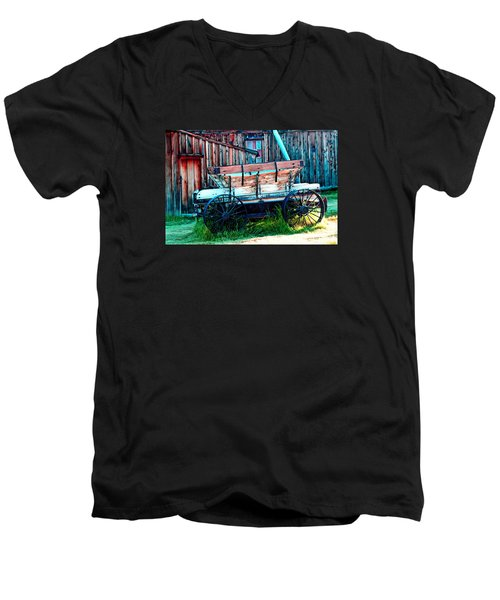 old Wagon In Bodie Men's V-Neck T-Shirt