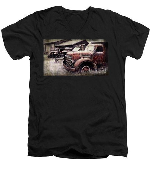 Old Work Trucks Men's V-Neck T-Shirt
