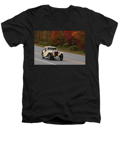 Men's V-Neck T-Shirt featuring the photograph Old Yeller 8168 by Guy Whiteley