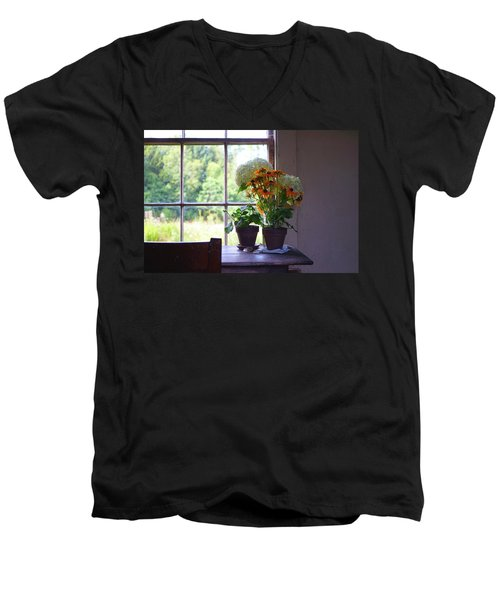 Olson House Flowers On Table Men's V-Neck T-Shirt