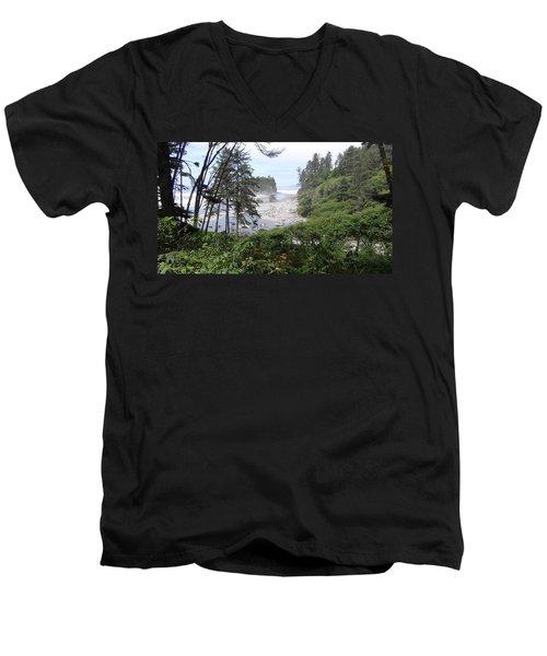 Olympic National Park Beach Men's V-Neck T-Shirt