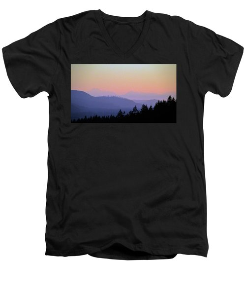 Olympic Silhouette Men's V-Neck T-Shirt