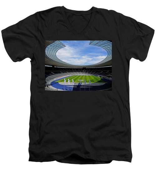 Olympic Stadium Berlin Men's V-Neck T-Shirt