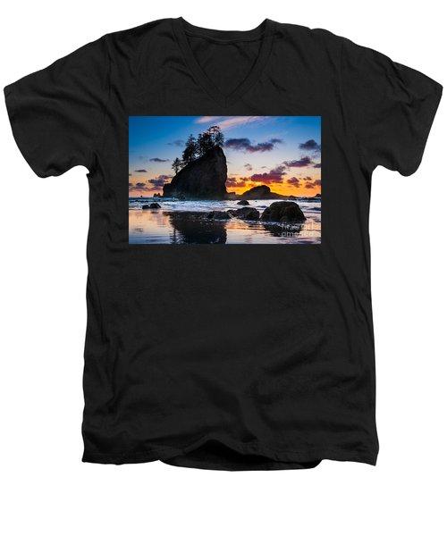 Olympic Sunset Men's V-Neck T-Shirt