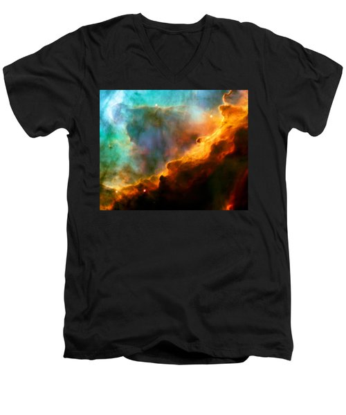 Omega Swan Nebula 3 Men's V-Neck T-Shirt by Jennifer Rondinelli Reilly - Fine Art Photography