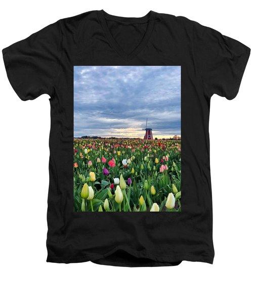 Ominous Spring Skies Men's V-Neck T-Shirt