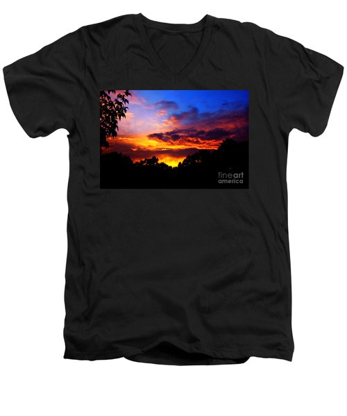 Ominous Sunset Men's V-Neck T-Shirt