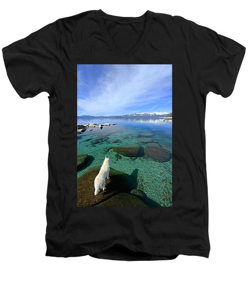 On A Clear Day You Can See Forever Men's V-Neck T-Shirt