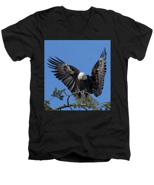 On Display Men's V-Neck T-Shirt by Sheldon Bilsker