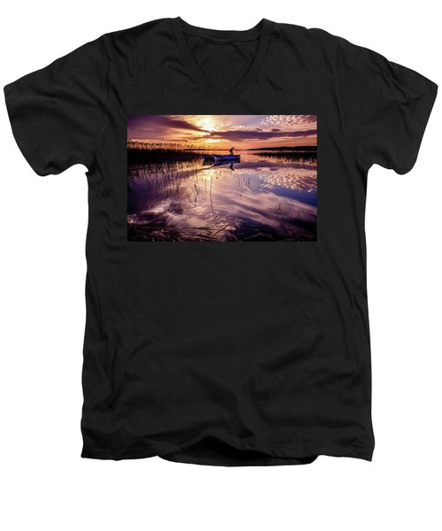 On The Boat Men's V-Neck T-Shirt